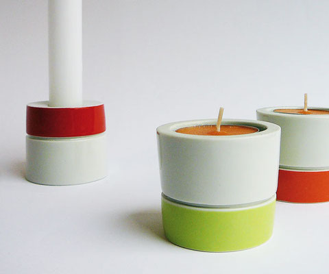 """""""Duo"""" - Leuchter für Teelicht oder Tafelkerze"""