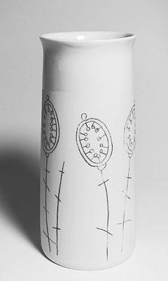 Porzellanvase, klein, Dekor Silbertaler