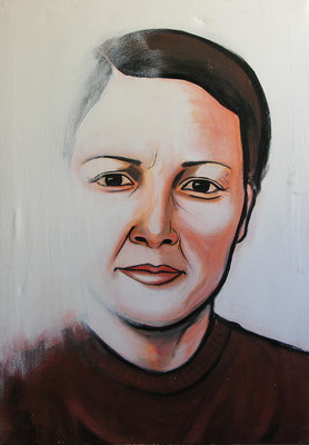 Sister, Acrylic on canvas, 100 x 70 cm, 2005