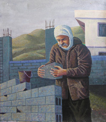 Father, Acrylic on canvas, 60 x 80 cm, 1998