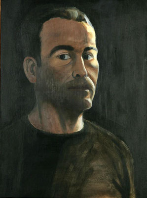 Self portrait, Oil on canvas, 64 x 48 cm, 2009