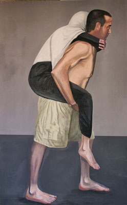 Self Portrait, Acrylic on canvas, 110 x 185 cm, 2011