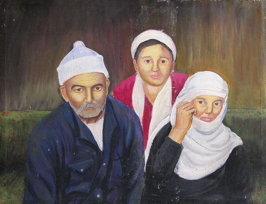 Family, Acrylic on canvas, 70 x 60 cm, 1999