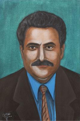 Azmi Bashara, Acrylic on canvas, 70 x 100 cm