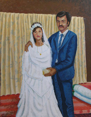Wedding, Acrylic on canvas, 50 x 70 cm, 1998