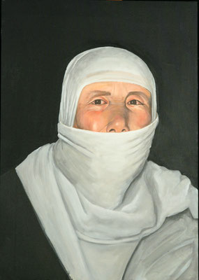 Mother, Acrylic on canvas, 108 x 76, cm, 2009