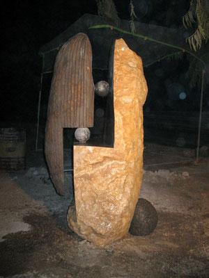 Yin & Yang, Lava stone and Limestone, 2010