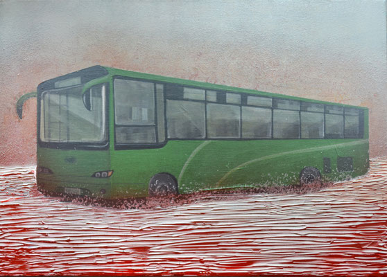 Bus, 70 x 50 cm, Mixed Media, 2017