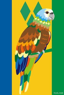 Saint Vincent and the Grenadines:Saint Vincent parrot