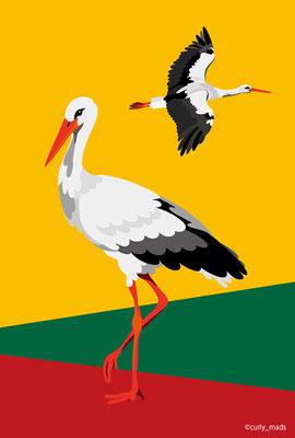 Lithuania:White stork