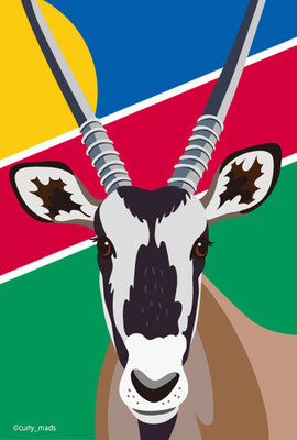 Namibia:Oryx gazella