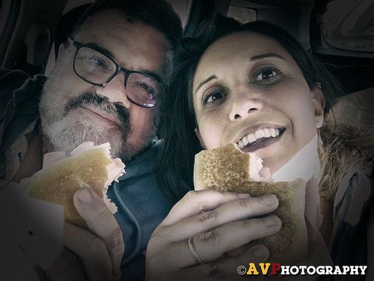 Pranzo in auto a Paestum