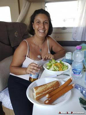 Pranzo sano e pranzo meno sano...