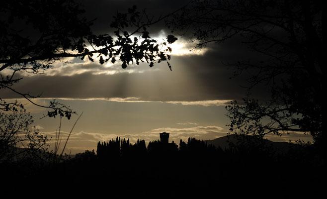 Paesaggio con il Castello del Trebbio