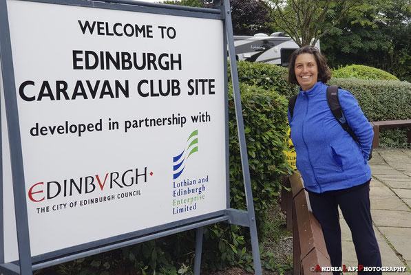 Scozia - Arrivo al Camping di Edimburgo