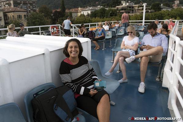 Dopo tanto estero... gita in barca sul Lago di Como!