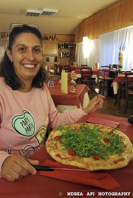 Cena con pizza