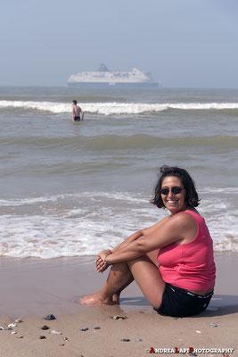 Relax sulla spiaggia a Boulogne sur Mer - Aspettando l'alta marea...