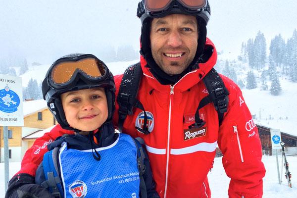 Training fürs Skirennen für die Mittelgrossen ;-)
