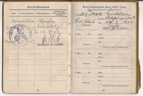 Oskar Abbold was wounded November 4, 1944 soon after the Lost Battalion fight.