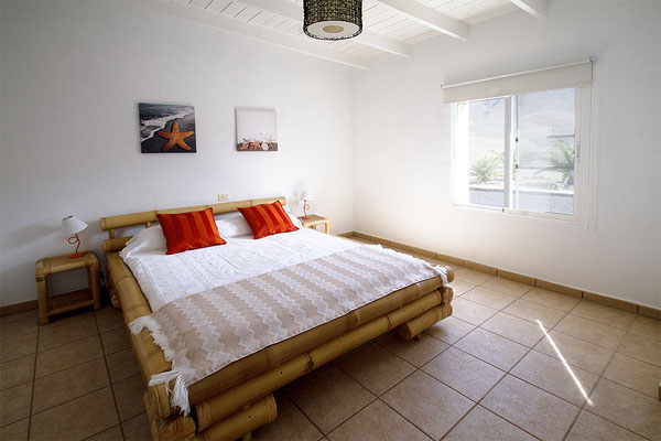 bamboo bed in spacious bright finca la pared