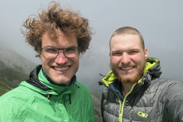 Hadi und ich auf dem Colle del Termo (Oberhalb Rima)