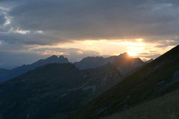 Sonnenuntergang am Pzo. Formalone.