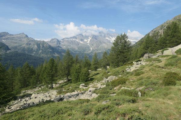 Oberhalb der Alp Prà del Cres - Richtung Westen
