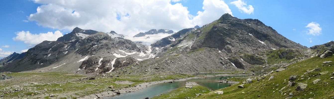 Etwas unterhalb des Passo di Campagneda Richtung Pizzo Scalino