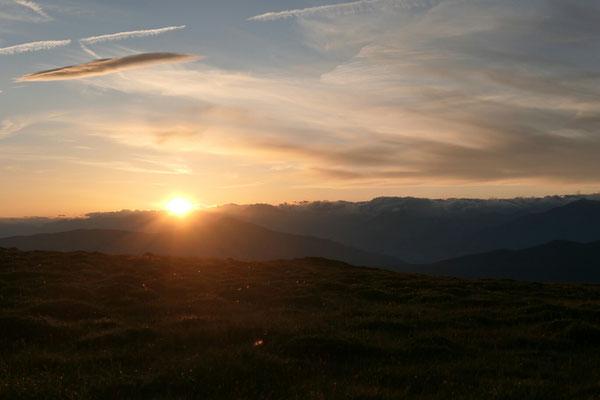 Der erste Sonnenuntergang auf der Frauenalpe (1997)