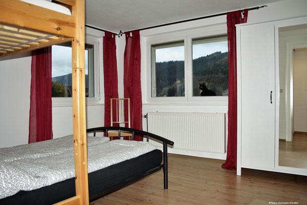 Das Schlafzimmer mit 3 Schlafplätzen