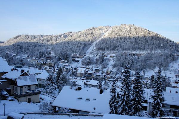 Blick auf den Sommerberg Bad Wildbad im Winter