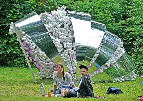 Picknick vor der Kunst - Hildesheimer Wallungen 2013. Foto: Andreas Hartmann