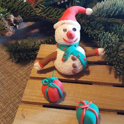 Kerst Sneeuwpop van Foam Clay