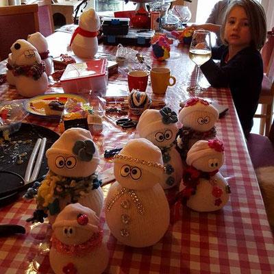 Sneeuwpopjes maken
