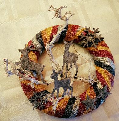 Kerstkransje van Foam Clay