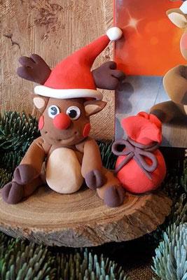 Kerst Rendier van Silk Clay