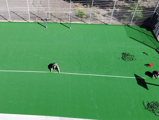Teppichvliesbelag aus Polypropylen für Multisport