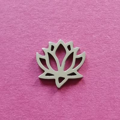 Lotus, silberfärbig, Edelstahl, 14 mm