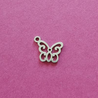 Schmetterling, Edelstahl, 13 mm