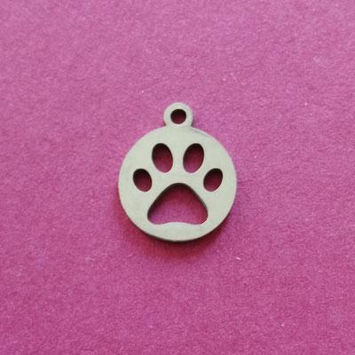Pfotenmarke, Edelstahl, 13 mm