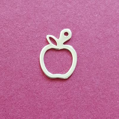 Apfel, Roségold, Sterling Silber, 10mm