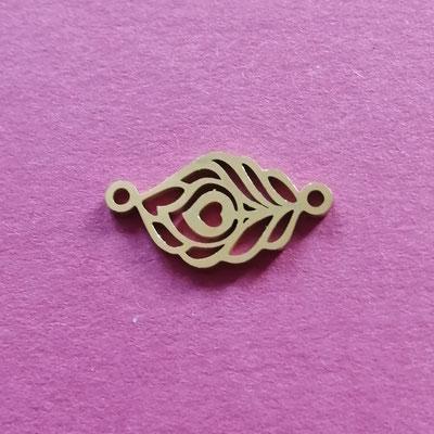 Feder, goldfärbig, Edelstahl, 13 mm