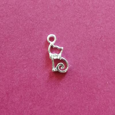 Kätzchen, Sterling Silber, 12 mm