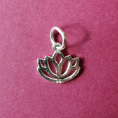 Lotus, 925 Sterling Silber, 13 mm
