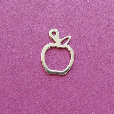 Apfel, Sterling Silber, 10 mm