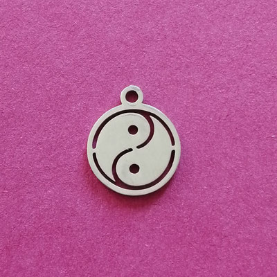 Yin Yang, Edelstahl, 12 mm