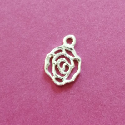 Rose, Sterling Silber, 10 mm