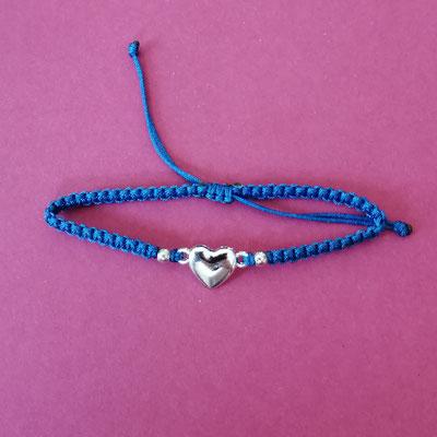 Flachknotenband, mit Perlen, Schiebeverschluss