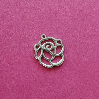 Rose, Edelstahl, 11 mm